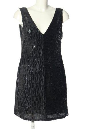 Zara Minikleid schwarz Glitzer-Optik