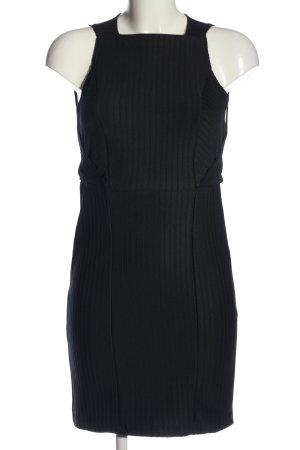 Zara Minikleid schwarz Streifenmuster Business-Look