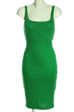 Zara Vestido de tubo verde look casual
