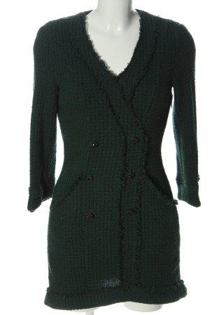 Zara Minikleid schwarz-khaki Zopfmuster Casual-Look