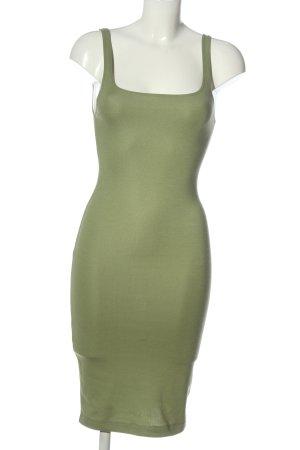 Zara Schlauchkleid grün Casual-Look