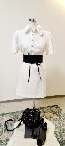 Zara / Minikleid/ 70er Style / Weiß/ Größe L