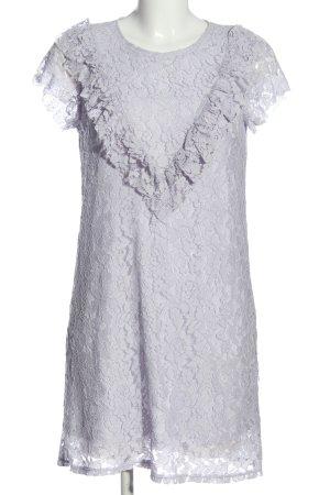 Zara Minikleid blau Webmuster Casual-Look