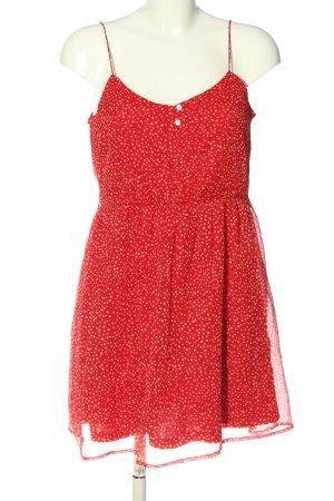 Zara Minikleid rot Allover-Druck Casual-Look