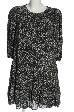 Zara Minikleid schwarz-weiß Allover-Druck Casual-Look