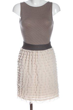 Zara Minikleid braun-creme Casual-Look