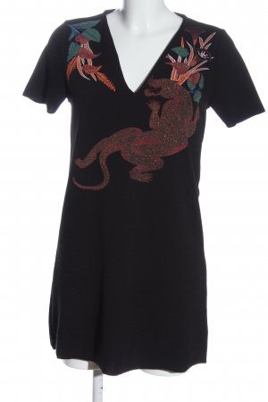 Zara Minikleid Motivdruck Casual-Look
