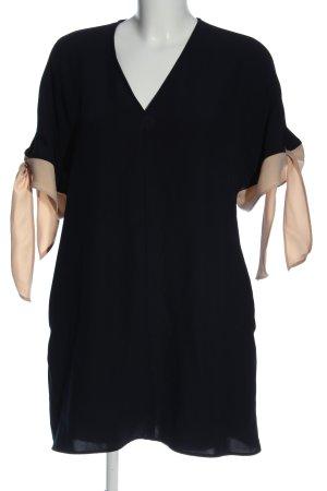 Zara Minikleid schwarz-creme Casual-Look