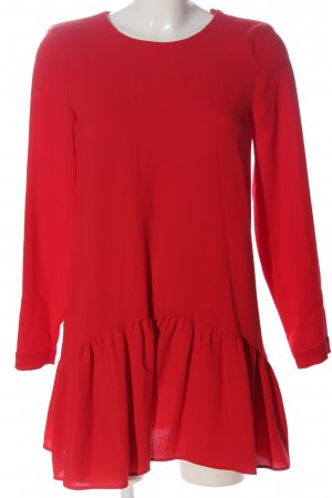 Zara Minikleid rot klassischer Stil