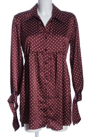 Zara Minikleid rot-weiß Allover-Druck Elegant