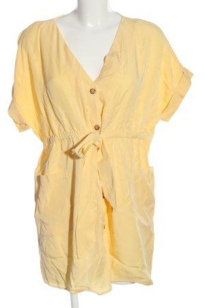 Zara Minikleid blassgelb Casual-Look