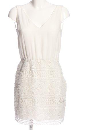 Zara Minikleid weiß Casual-Look