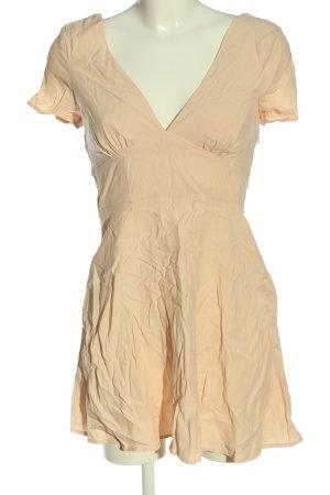 Zara Sukienka mini kremowy W stylu casual