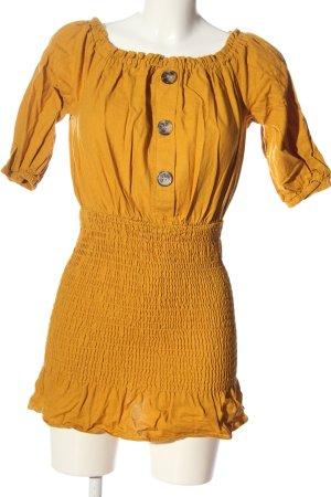 Zara Minikleid hellorange Casual-Look