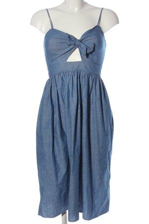 Zara Trägerkleid blau Casual-Look