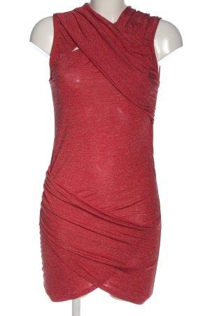 Zara Robe courte rouge moucheté style décontracté