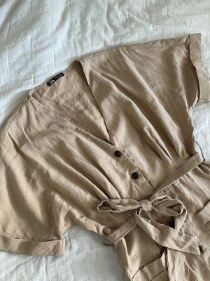 Zara Minikleid Beige mit Knopfleiste