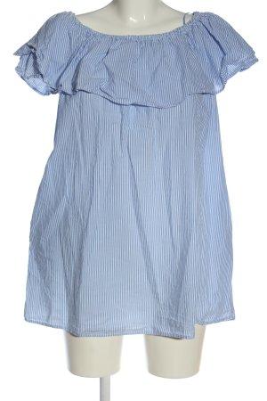 Zara Minikleid blau-weiß Allover-Druck Casual-Look