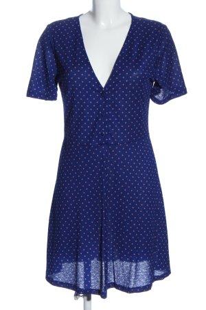 Zara Minikleid blau-pink Allover-Druck Casual-Look
