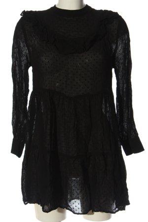 Zara Sukienka mini czarny Wzór w kropki Elegancki