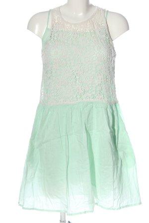 Zara Minikleid türkis-weiß Casual-Look