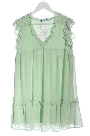 Zara Minikleid grün Allover-Druck Casual-Look