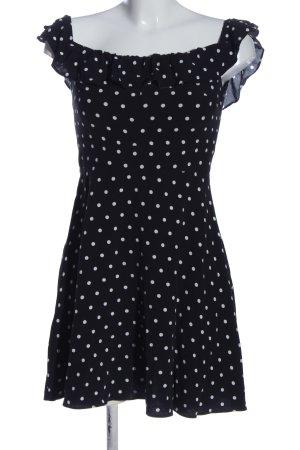 Zara Minikleid schwarz-weiß Punktemuster Casual-Look