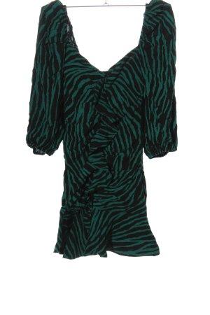 Zara Minikleid grün-schwarz Casual-Look