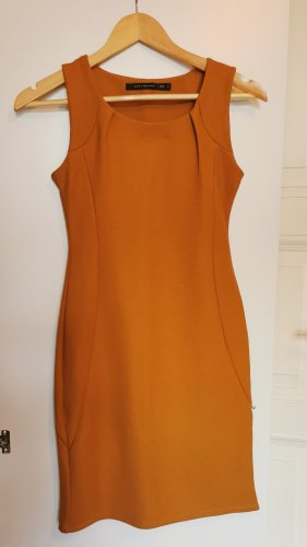 Zara Minikleid in Okergelb