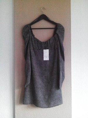 Zara Minikleid in schwarz-weiss gepunktet, Größe L, neu
