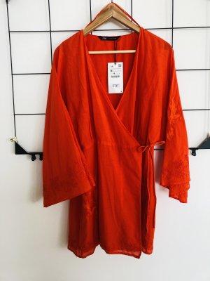 Zara Minikleid Kleid Kimono Kimonokleid Wickelkleid