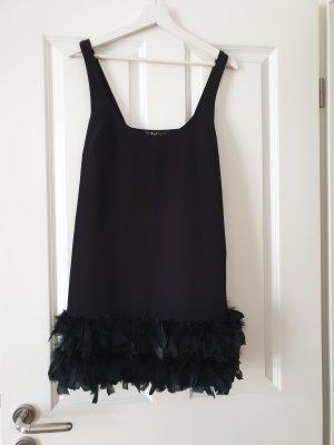 Zara Minikleid mit Federsaum