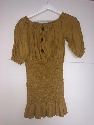Zara Minikleid mit Knöpfen in Gelb