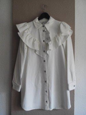 Zara Minikleid mit Volant aus 100% Baumwolle, Jeans Optik, Größe M, neu