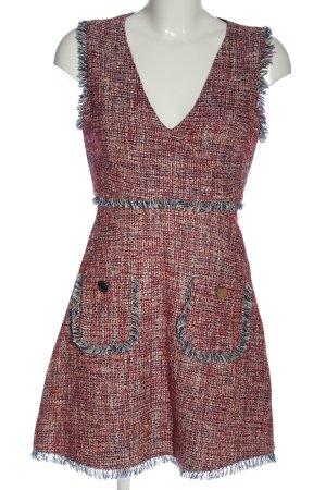 Zara Minikleid rot-blau meliert Casual-Look