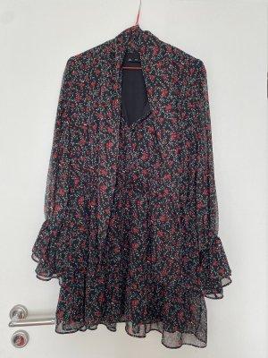 Zara Minikleid schluppe rot schwarz Schleife Gr. L