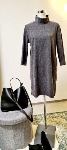 Zara / Minikleid/ Wollminikleid / Größe L/ Grau / Turtleneck Kragen
