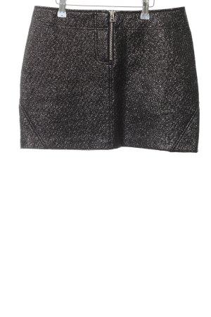 Zara Minirock schwarz Glanz-Optik