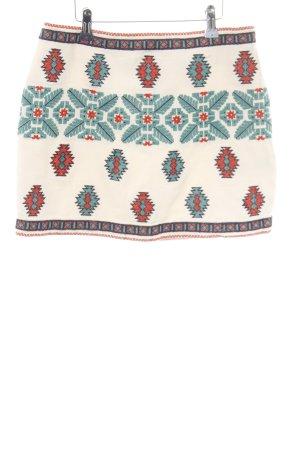 Zara Minirock grafisches Muster Casual-Look