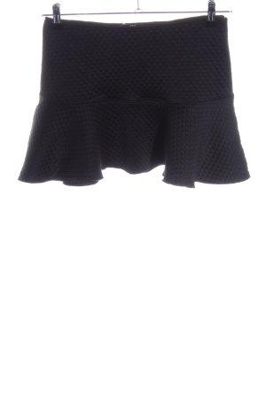 Zara Minirock schwarz Steppmuster Casual-Look