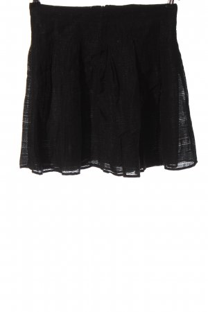 Zara Minirock schwarz Streifenmuster Casual-Look