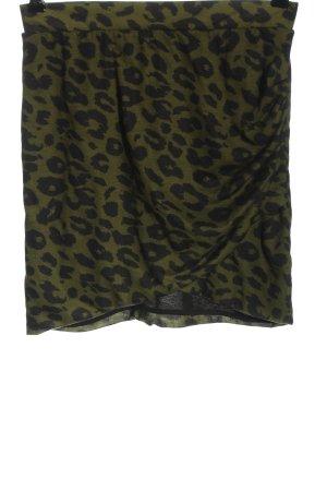 Zara Minirock grün-schwarz Allover-Druck Casual-Look