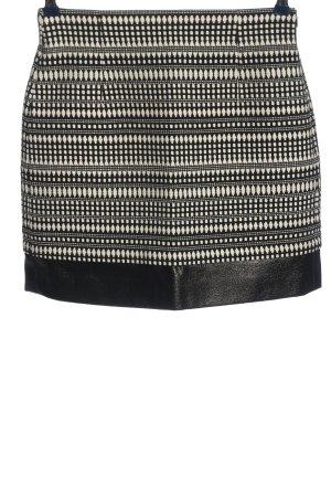 Zara Minirock schwarz-weiß Allover-Druck Casual-Look