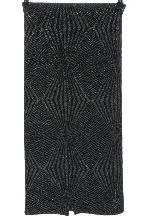 Zara Midirock silberfarben grafisches Muster Glanz-Optik