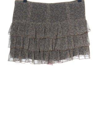 Zara Minirock weiß-braun Allover-Druck Casual-Look