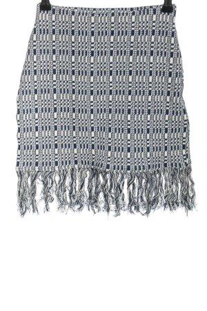 Zara Minirock blau-weiß Allover-Druck Casual-Look