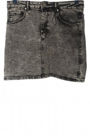Zara Minirock schwarz-wollweiß meliert Casual-Look