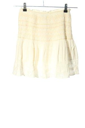 Zara Minirock creme grafisches Muster Casual-Look