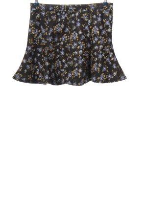 Zara Minirock schwarz-blau Allover-Druck Casual-Look