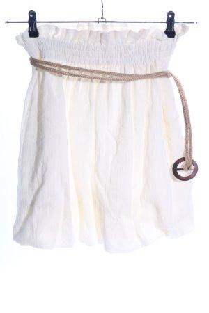 Zara Minirock creme Casual-Look